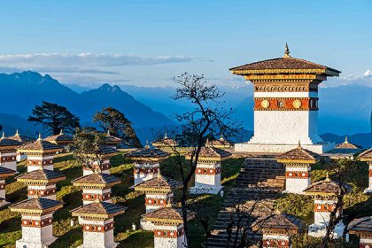 Dochula pass - attraction for Bhutan honeymoon package from India