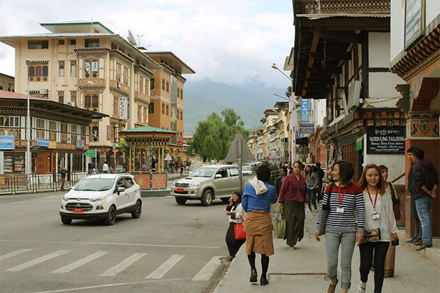 Indian experience Paro Town in Bhutan travel tour