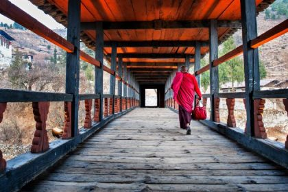 Rinpung Dzong Fortress in classic bhutan trip package