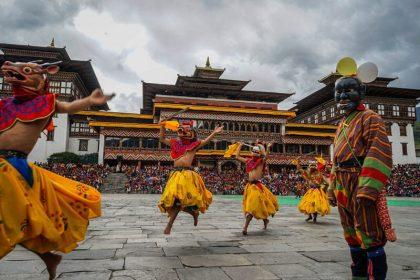 Thimphu festival in Tashichho Dzong