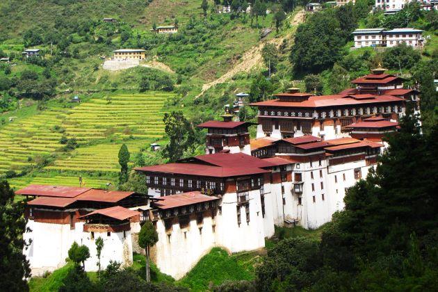 Trongsa Dzong in bhutan