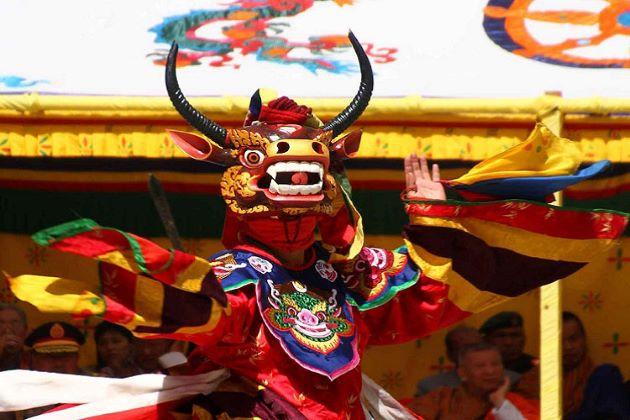 Tsechu festival in bhutan