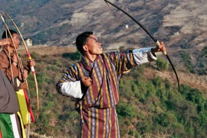 archery competition in bhutan adventure tour
