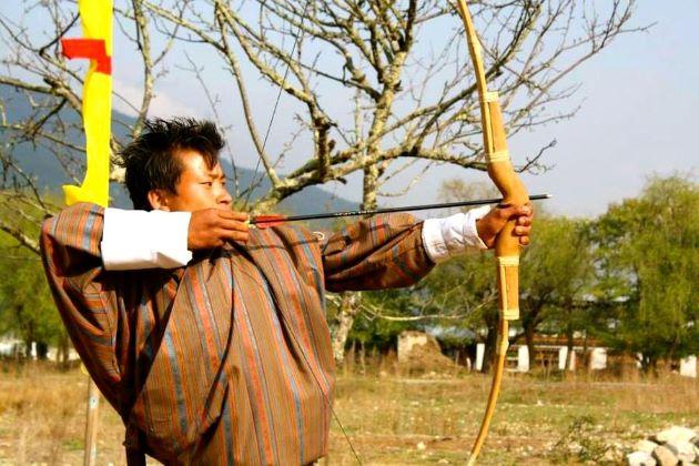 archery in bhutan losar