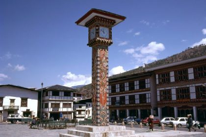 clock tower square in thimphu bhutan trip packages from india
