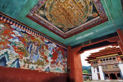 inside Gangtey gompa bhutan trekking companies