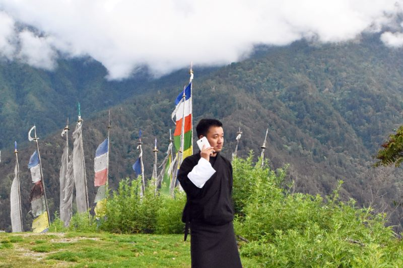 sim cards and netword providers in bhutan
